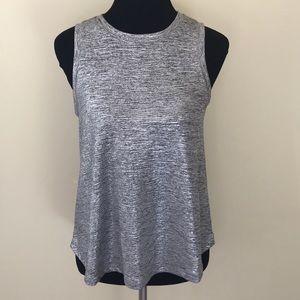 Silver Deletta Sleeveless top shimmery XS